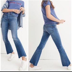 Madewell cali demi raw hem jeans